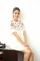 Lavanya Tripathi in Summer Style Spicy Short White Dress at her Interview  Exclusive 113.JPG