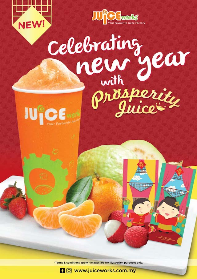 Prosperity Juice @ Juice Works Malaysia To Celebrate The New Year