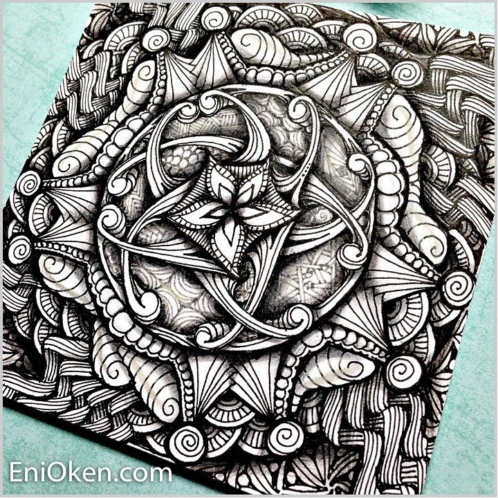 08-Zendala-Eni-Oken-Color-and-Black-and-White-Zentangle-Drawings-www-designstack-co
