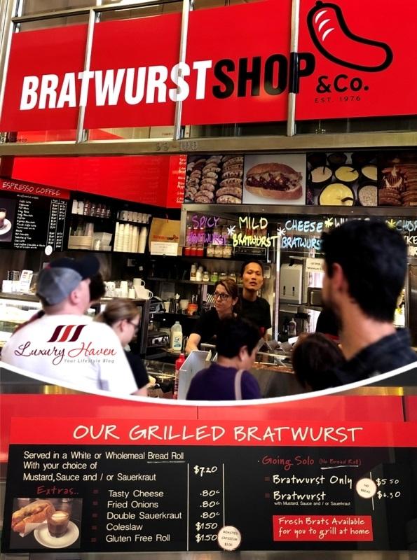 queen victoria market bratwurst german sausage review