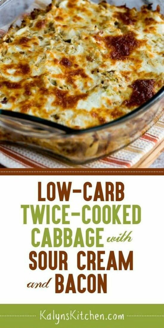 LOW-CARB TWICE-COOKED CABBAGE WITH SOUR CREAM AND BACON #recipes #dinnertonight #food #foodporn #healthy #yummy #instafood #foodie #delicious #dinner #breakfast #dessert #lunch #vegan #cake #eatclean #homemade #diet #healthyfood #cleaneating #foodstagram