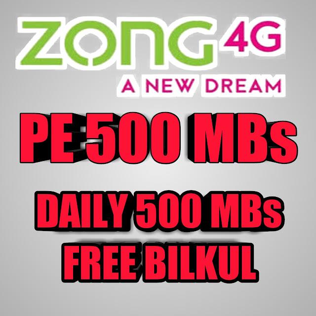 ZONG PE FREE INTERNET CODE 2020
