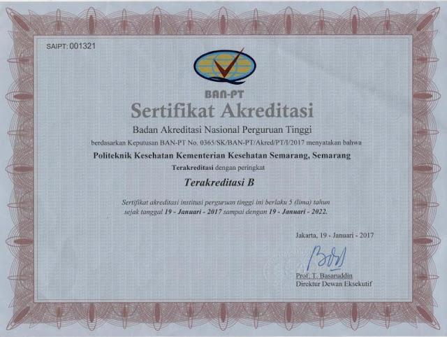Akreditasi Poltekkes Semarang