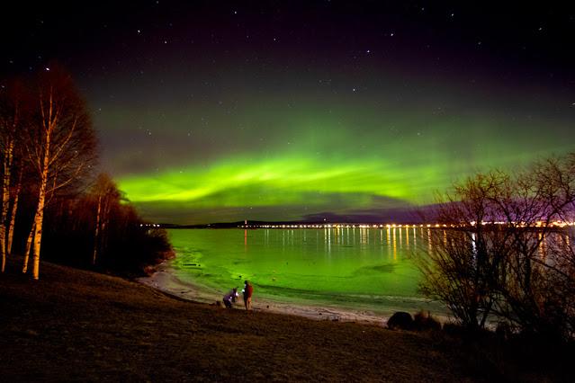 Aurora boreale all'Arktikum park-Rovianiemi