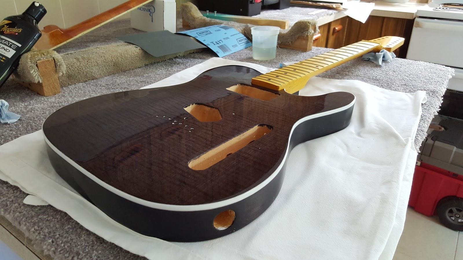 guitar kit builder 12 string telecaster polishing and pickguard. Black Bedroom Furniture Sets. Home Design Ideas