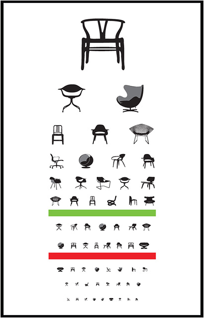 Poster design and eye exam an eye chart made of of modern classic chairs nvjuhfo Image collections