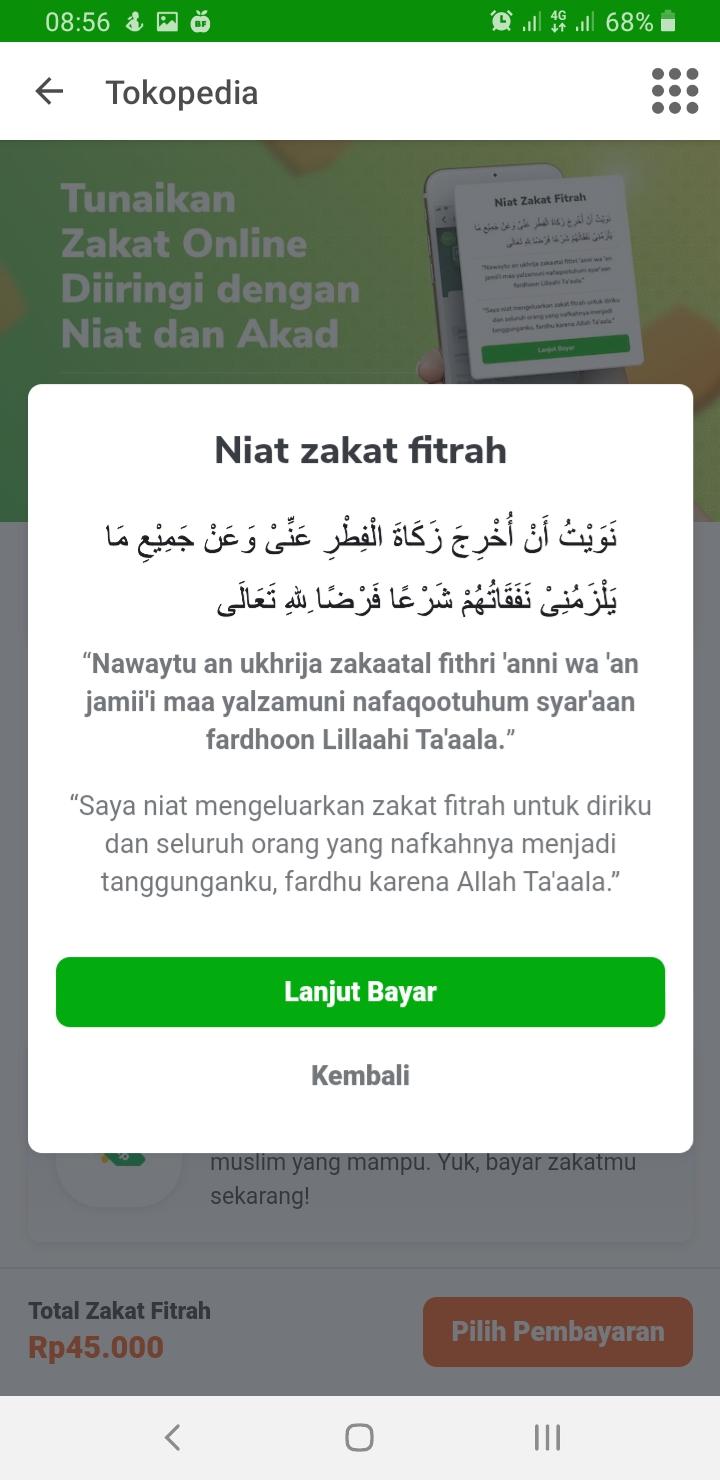 Bayar zakat fitrah online di Tokopedia - Fujiharu.com