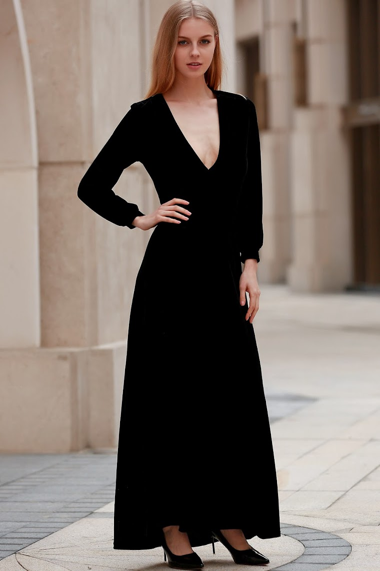 http://www.zaful.com/black-velvet-plunging-neck-long-sleeve-dress-p_167749.html