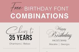 Free Birthday Font Combinations