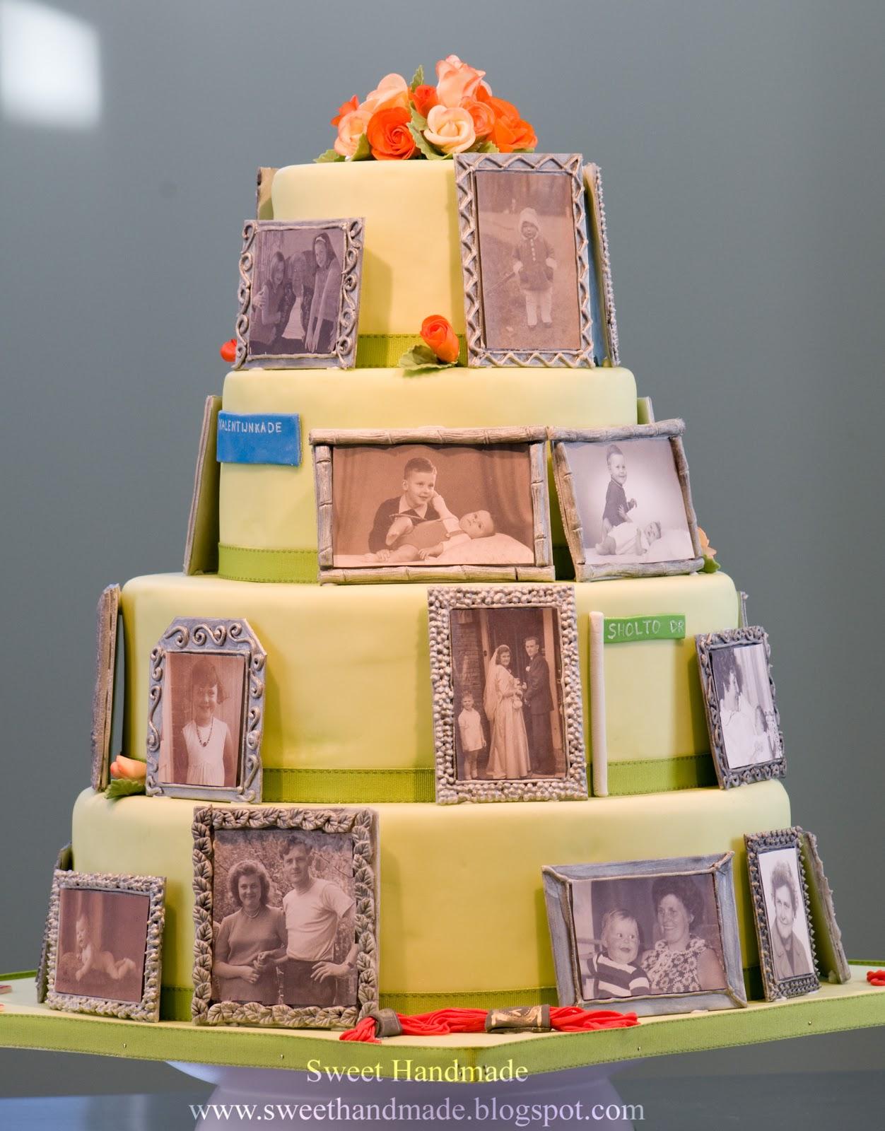 Sweet Handmade Cookies Photo Frame Birthday Cake