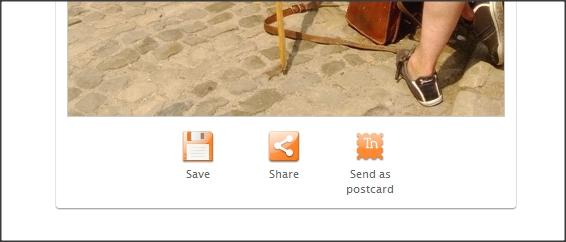 salvar montagem de fotos