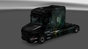 White Dracon Skin for Scania T