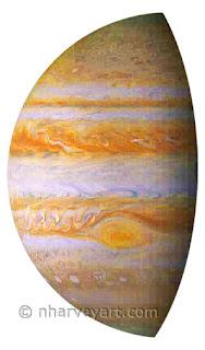 Jupiter image after editing shadow