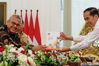 Lapor Evaluasi Pemilu ke Presiden Jokowi, KPU Singgung Partisipasi Pemilih