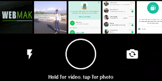 WhatsApp Status Tab Camera Screenshot - WhatsApp Cool New Exciting Features in Latest Update