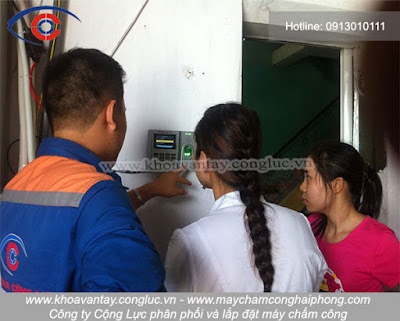 dịch vụ lắp máy chấm công uy tín nhất tại Hải Phòng