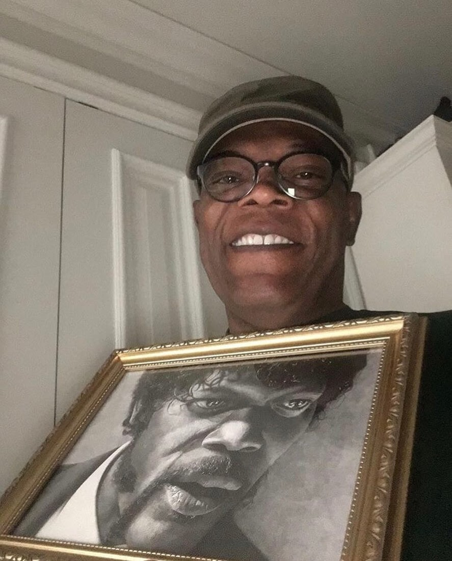 10-Samuel-L-Jackson-Gurekbal-Bhachu-Realistic-Celebrity-Portraits-Drawings