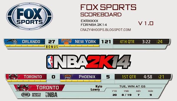 NBA 2K14 FOX Sports Scoreboard Mod