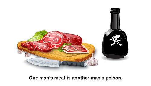 ones person meat is another mans