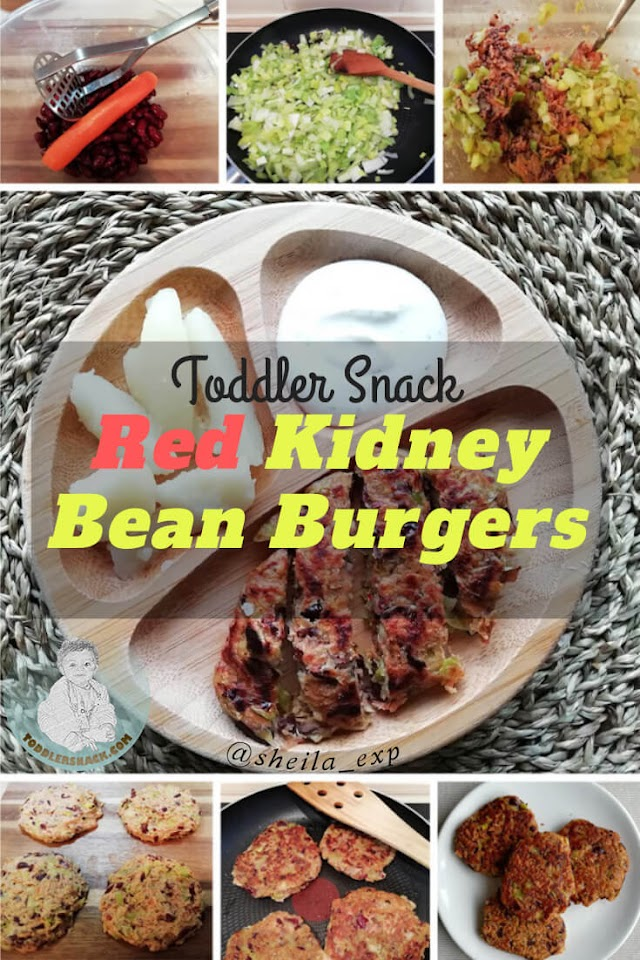 Toddler Snacks: Red kidney bean burgers