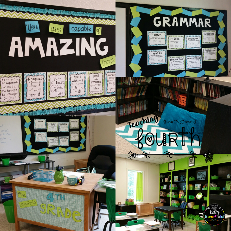 Elementary Classrooms Themes ~ Teaching fourth my classroom reveal