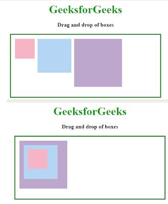 drag dan drop box pada laman html
