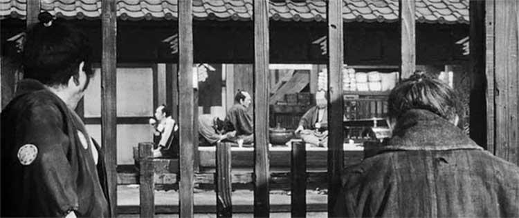 A shot from Akira Kurosawa's 1961 film Yojimbo.