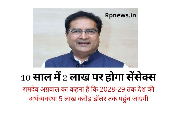 Sensex will be at 2 lakhs in 10 years, what did Ramdev Aggarwal tell about the market