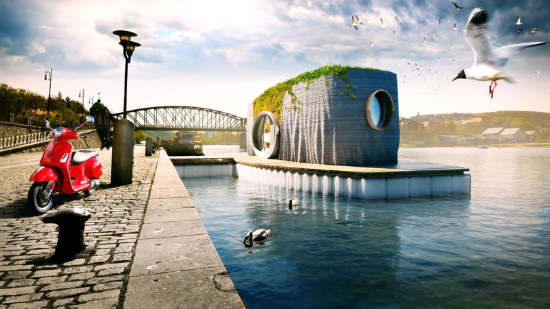 PRVOK floating house