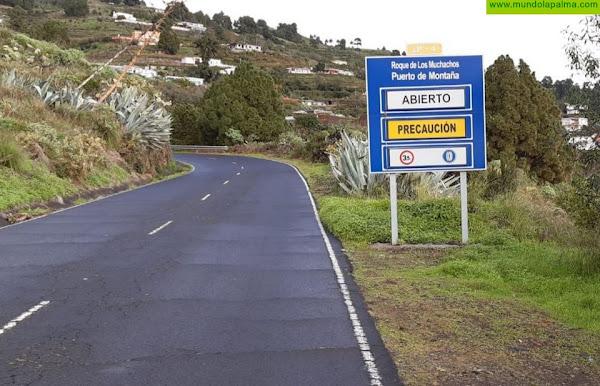 El Cabildo  abre en su integridad la carretera del Roque de Los Muchachos y la de Los Brecitos