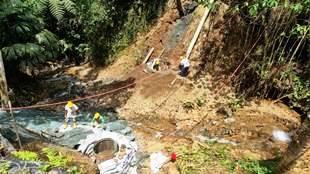 Avanza construcción de puente en El Chorriadero en Combia Alta
