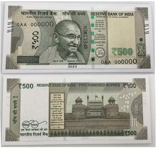 New Indian Ru Notes 500 Inr 2000