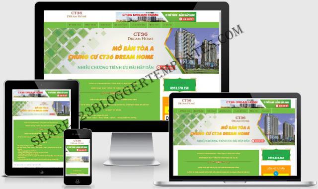 Templates blogpsot bất động sản seo tốt load nhanh