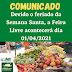 NOVO HORIZONTE-BA:  COMUNICADO A FEIRA LIVRE ACONTECERÁ DIA 01/04/2021 )