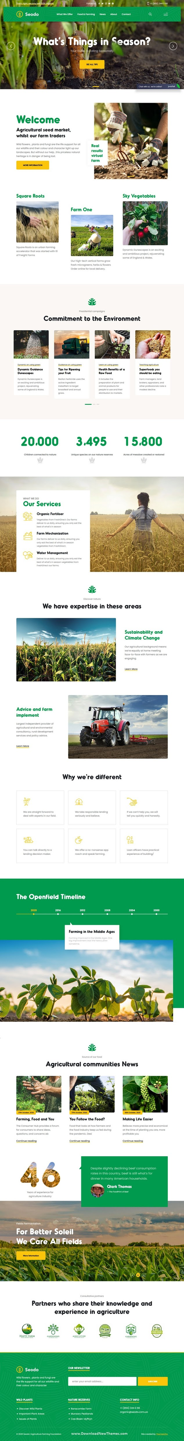 Agriculture Farming Foundation WordPress Theme