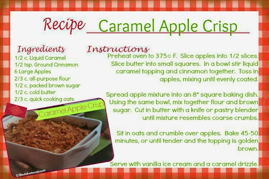 [RECIPE] Caramel Apple Crisp