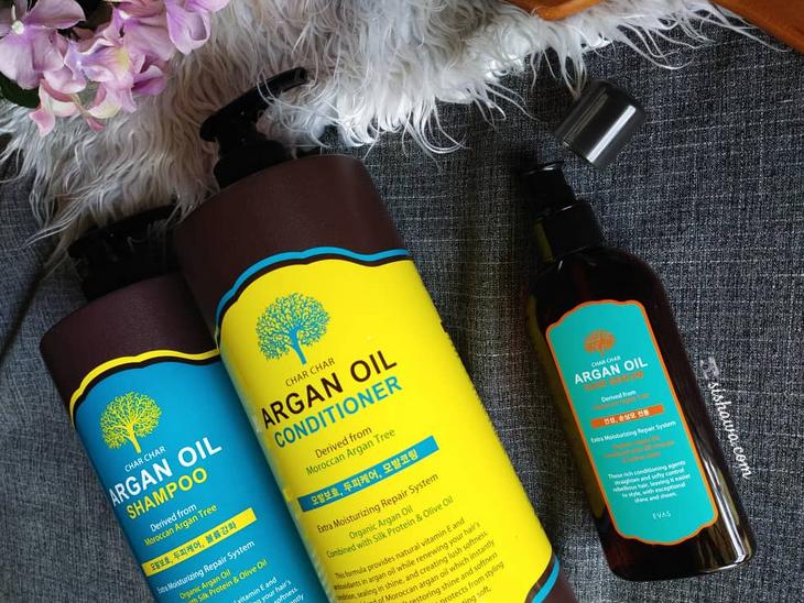 EVAS Char Char Argan Oil Hair Care Set shampoo minyak argan