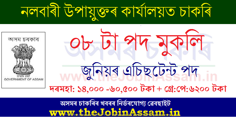 DC Office Nalbari Recruitment 2020