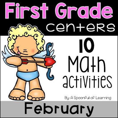February Centers - 10 Math Activities