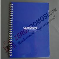 Agenda Custom Cover Artcarton Ukuran A5, Isi 50Lbr Bergaris Dan Watermark 1Warna