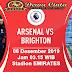 Prediksi Skor Bola Arsenal vs Brighton 06 Desember 2019