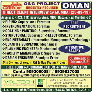 Galfar O&G Project Free Recruitment