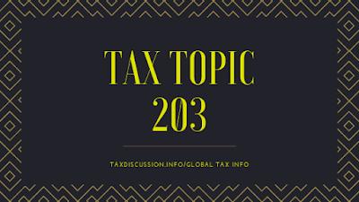 tax topic 203