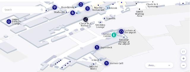 Lokasi Loker Bandara Zurich