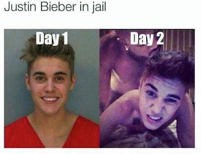 Justin Bieber im Gefängnis witzige Bilder