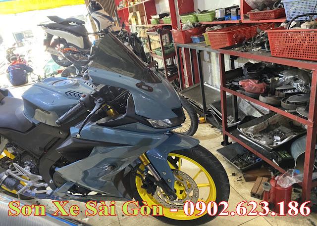 Mẫu Xe Yamaha R15 sơn màu xanh xi măng cực đẹp