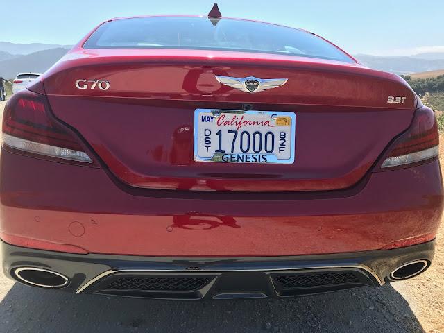 Rear view of 2019 Genesis G70 3.3T Dynamic Edition