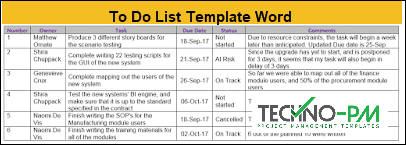 To Do List Template Word, Custom To Do List