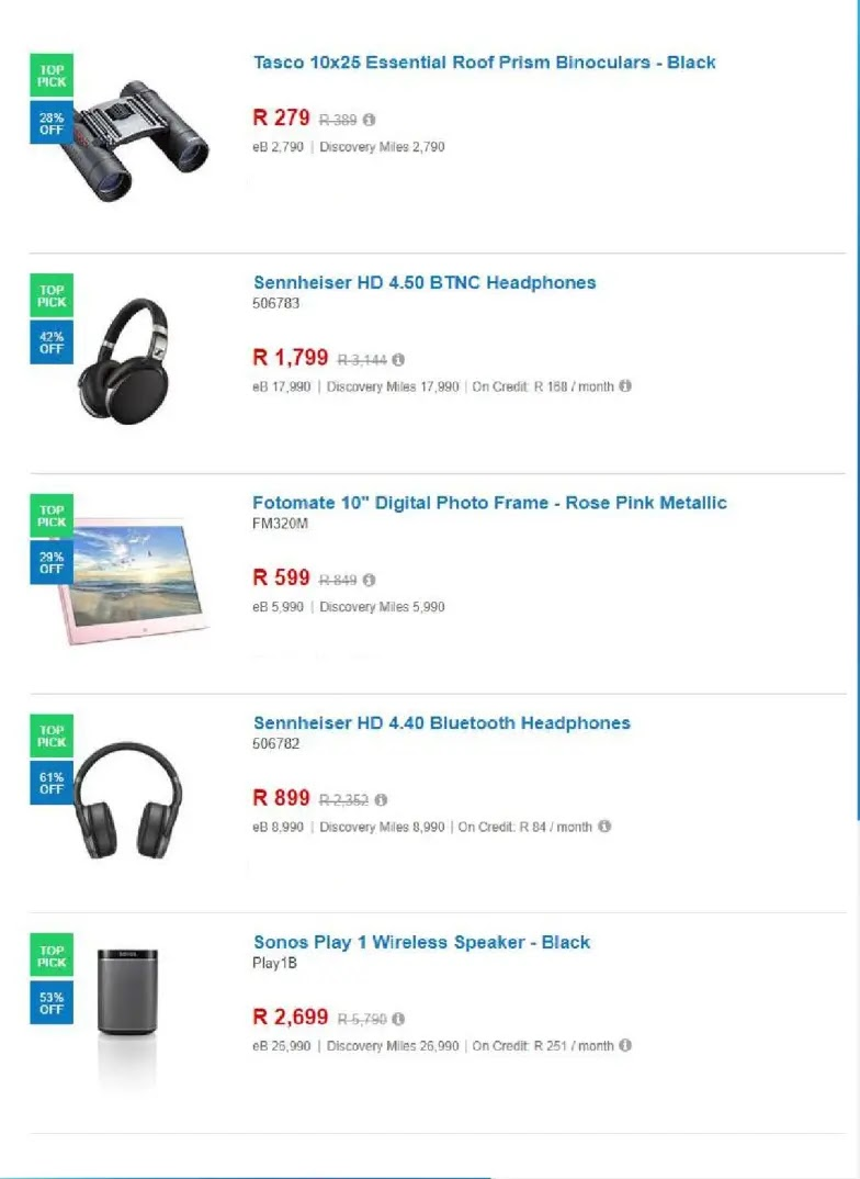Live 2019 Takealot Black Friday Early Access Deals