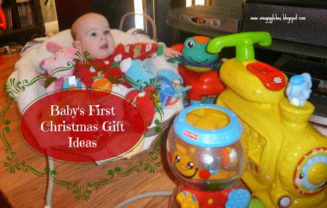 some gift ideas of what to give a baby for the first Christmas,